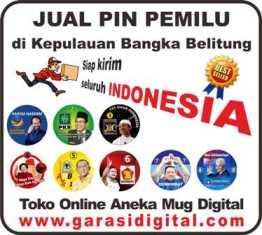 Jual Pin Pemilu di Kepulauan Bangka Belitung