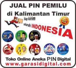Jual Pin Pemilu di Kalimantan Timur