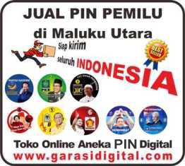 Jual Pin Pemilu di Maluku Utara