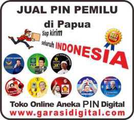 Jual Pin Pemilu di Papua