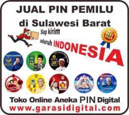 Jual Pin Pemilu di Sulawesi Barat