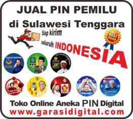 Jual Pin Pemilu di Sulawesi Tenggara