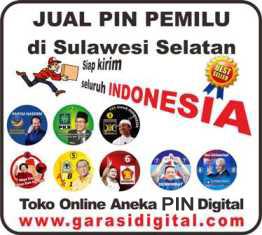 Jual Pin Pemilu di Sulawesi Selatan