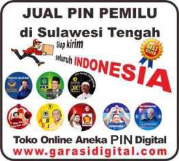 Jual Pin Pemilu di Sulawesi Tengah