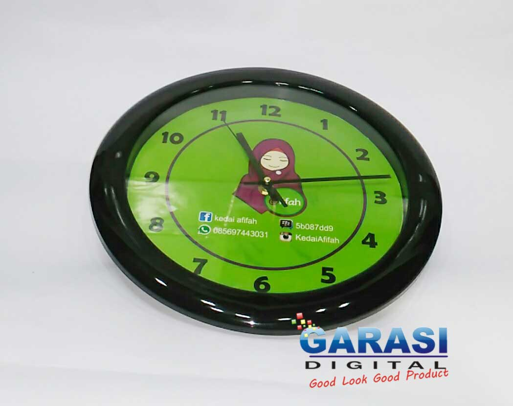 Contoh Jam Dinding Promosi