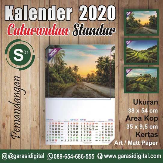 Jual Kalender Empat Bulanan 2020